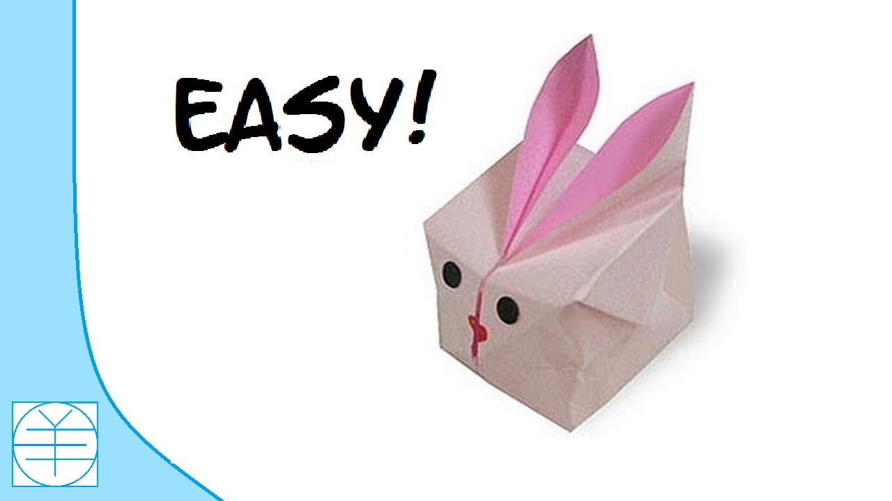 easter origami inflatable bunny easy instructions