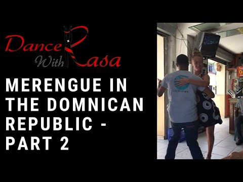 Merengue dancing in Santo Domingo, Dominican Republic - part 2