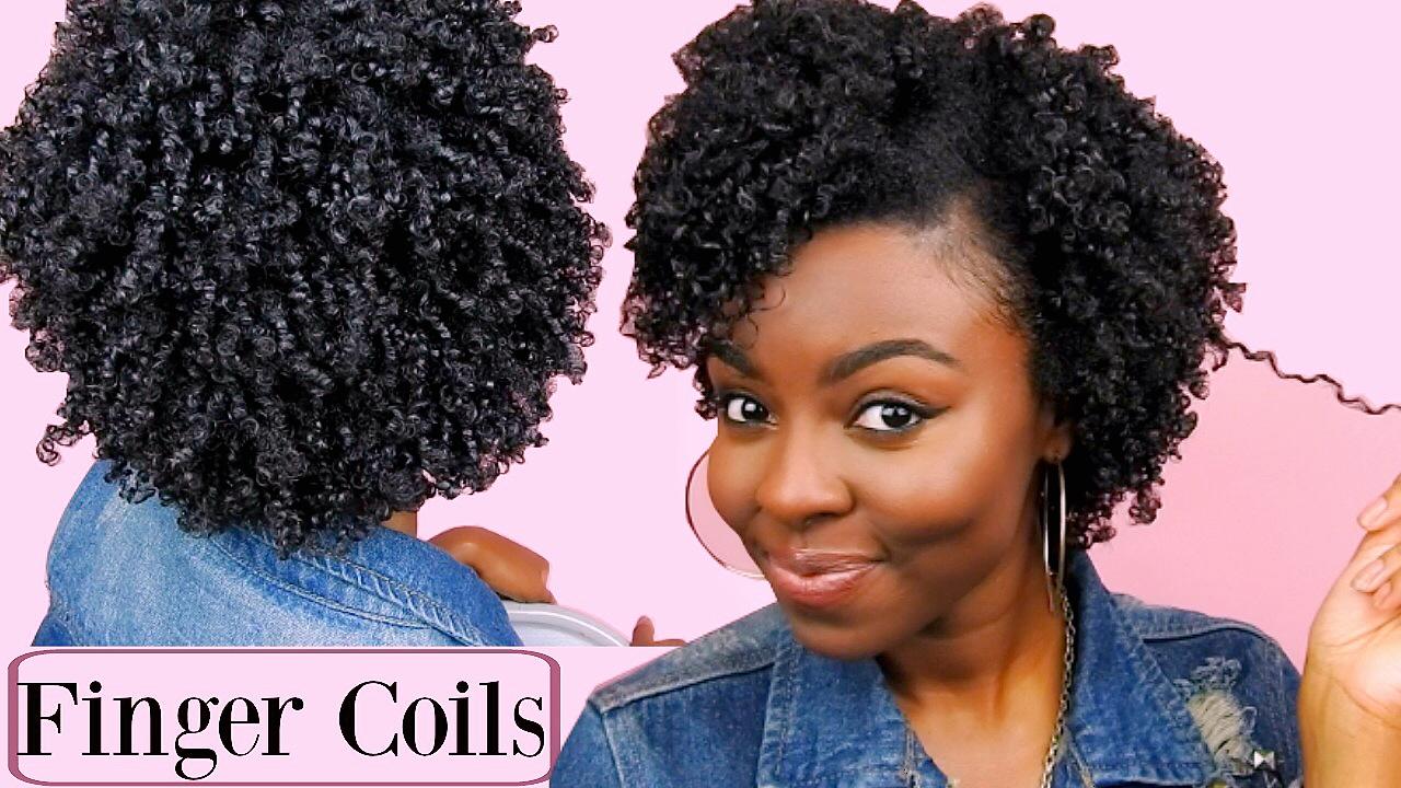 super defined finger coils | short to medium natural hair