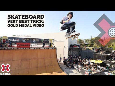 GUI KHURY LANDS 1080: Pacifico Skateboard Vert Best Trick | X Games 2021