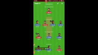 LIVE IND VS PAK DREAM 11 TEAM