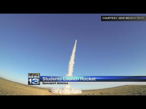 New Mexico Tech students launch rocket from Spaceport America