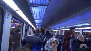 Im Zugabteil von Bremen nach Hamburg 2014