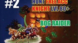 Tibia: Hunt Bog Raider Free Account Knight level 80 Robson Isle