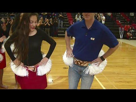 Trying Polynesian Dance At Trinity High School