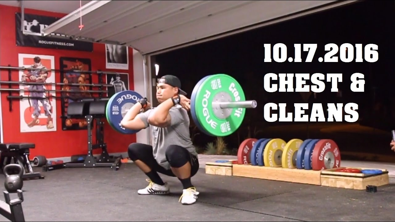 Garage gym tour pando s barbell club youtube - Chest And Cleans Workout Vlog 10 17 2016 Garage Gym Athlete Youtube