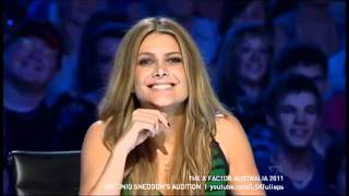 The X Factor Australia 2011   Antonio Sneddon You Say It Best When You Say Nothing At All Audition