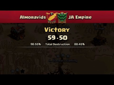 Clash of Clans- War recap Almoravids vs JA Empire #JCWL