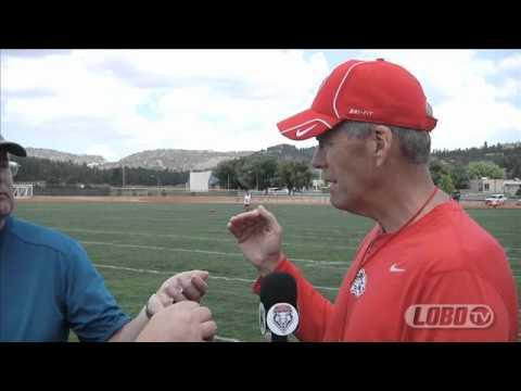 2012 Lobo Football | Coach Bob Davie - Ruidoso Practice Day 1 Press Conference