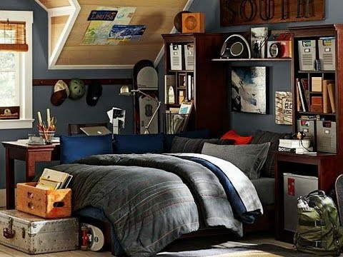 Cool Bedroom Ideas for Teenage Guys Small Rooms - YouTube on Teenage Room Colors For Guys  id=30202