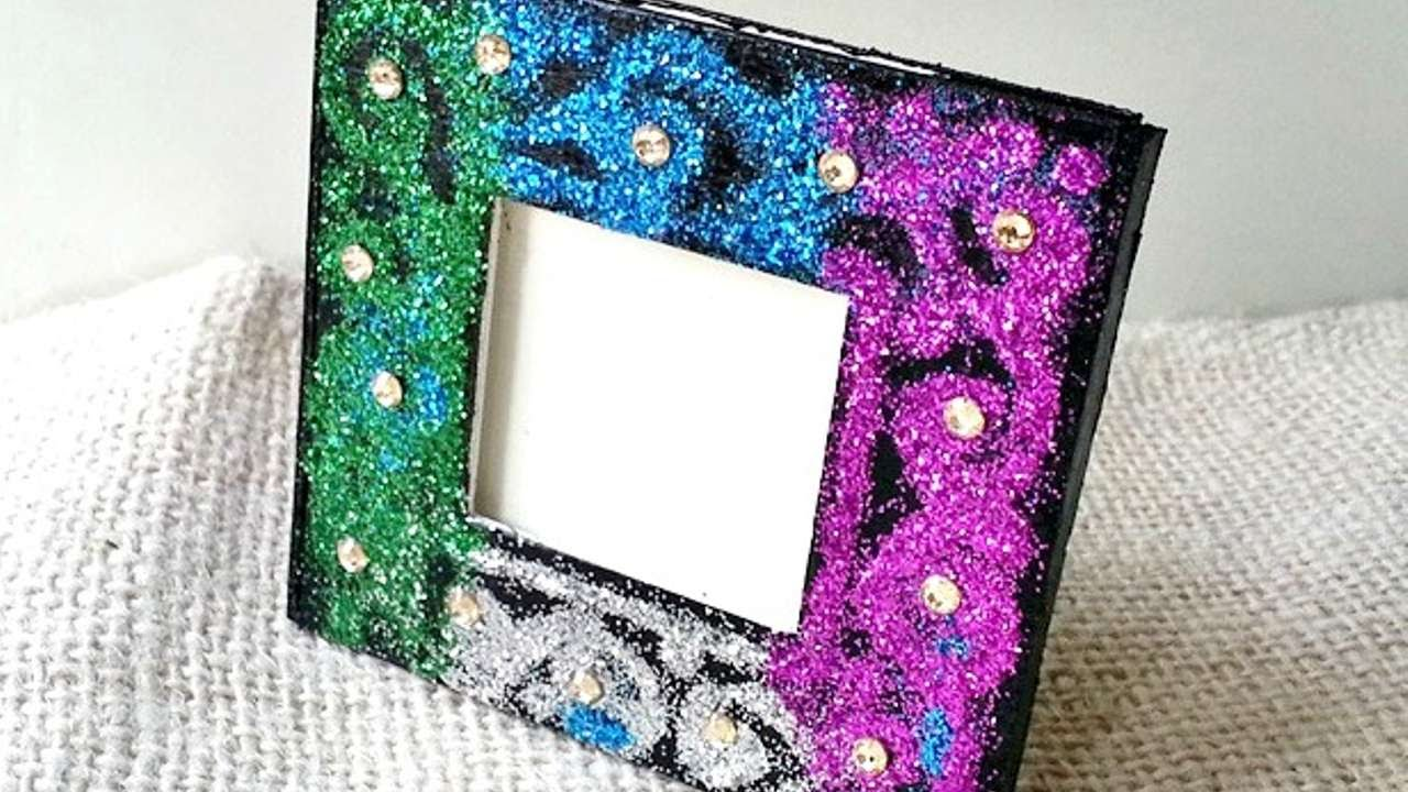 how to create a glitter decorated photo frame diy home tutorial guidecentral