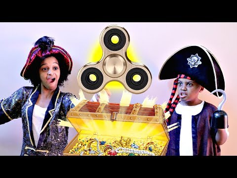Thumbnail: Fidget Spinner PIRATE TREASURE!! - Shiloh and Shasha - Onyx Kids