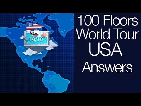100 Floors World Tour Usa Walkthrough Levels 1 10 Youtube