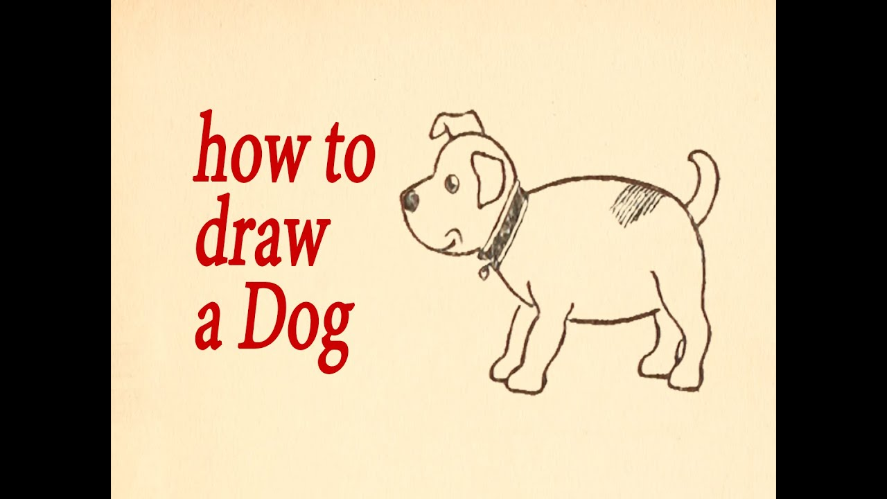 Dog. What To Draw And How To Do It: A Dog