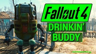 FALLOUT 4: How To Get BUDDY Protectron For Your Settlement! (PLUS All Gwinnett Recipe Locations)