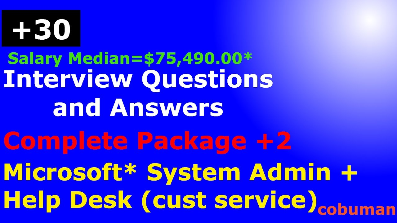 top system administrator and help desk interview questions and top system administrator and help desk interview questions and answers complete package