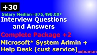 Top System Administrator and Help Desk Interview Questions and Answers Complete Package