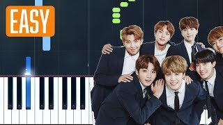 "BTS (방탄소년단) - ""Epiphany"" 100% EASY PIANO TUTORIAL"