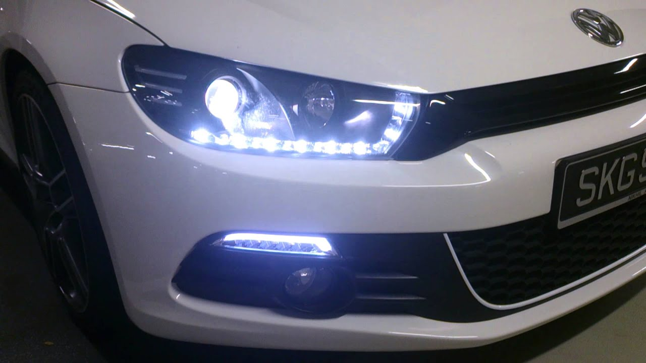 Front Led Lights Candy White Scirocco Youtube
