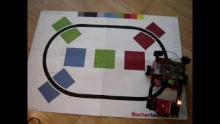 fischertechnik driving robot mydfir 6 top line following sonar light python and weird stuff