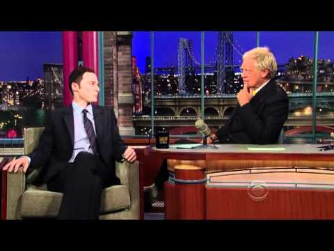Jim Parsons at The Late Show With David Letterman - October 11th 2010