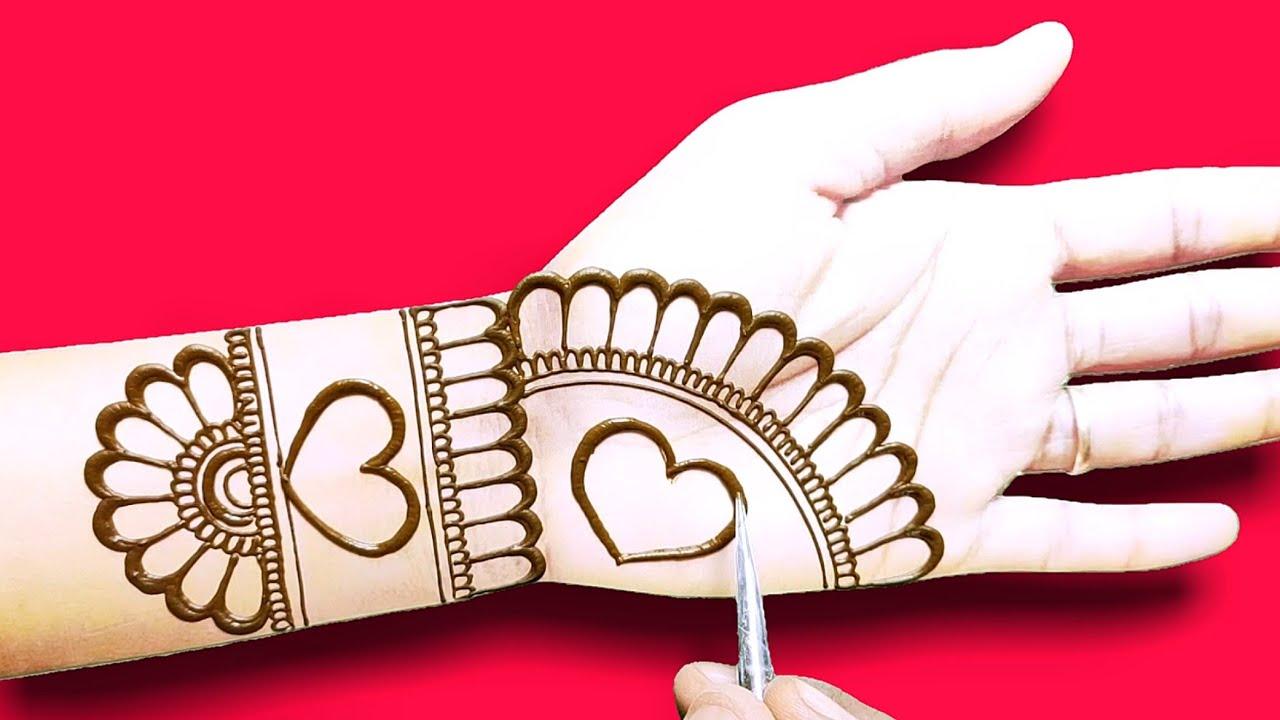front hand mehndi design-easy beautiful Arabic Henna,mehndi design-तीज त्यौहार मेहंदी डिजाइन
