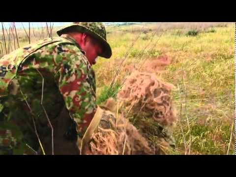 Marine Sniper Camouflage Techniques - Ghillie Suit