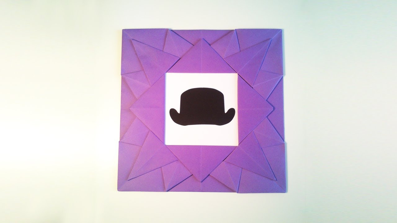 Fabuleux HD / TUTO: Faire un cadre en origami - Make a frame origami - YouTube TU26