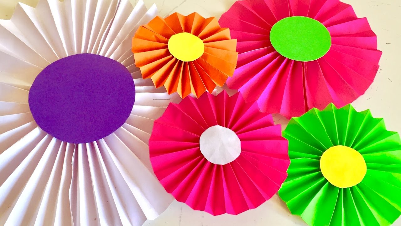 Art Decorating And Crafting Paper Craft For Wall Hanging Arts And Crafts Diy Home Decorating Flowers Making