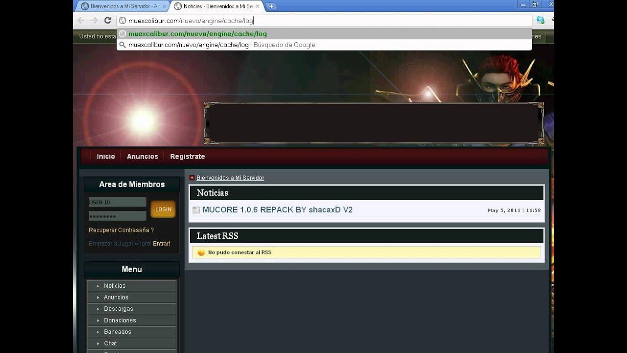 Instalación de web MuCore en WebHosting