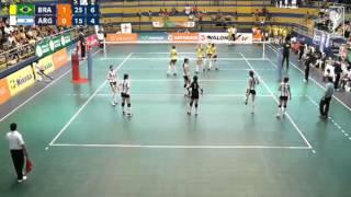 Sudamericano de Voleibol Femenino Menores Tarapoto 2014 - Brasil vs. Argentina