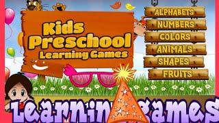 Preschool Learning Games /Fun Games For Kids