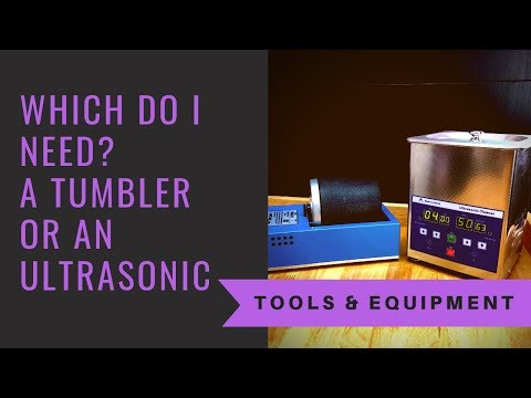 Which Do I Need? - A Tumbler Or An Ultrasonic? Jewelry Making Tools And Equipment