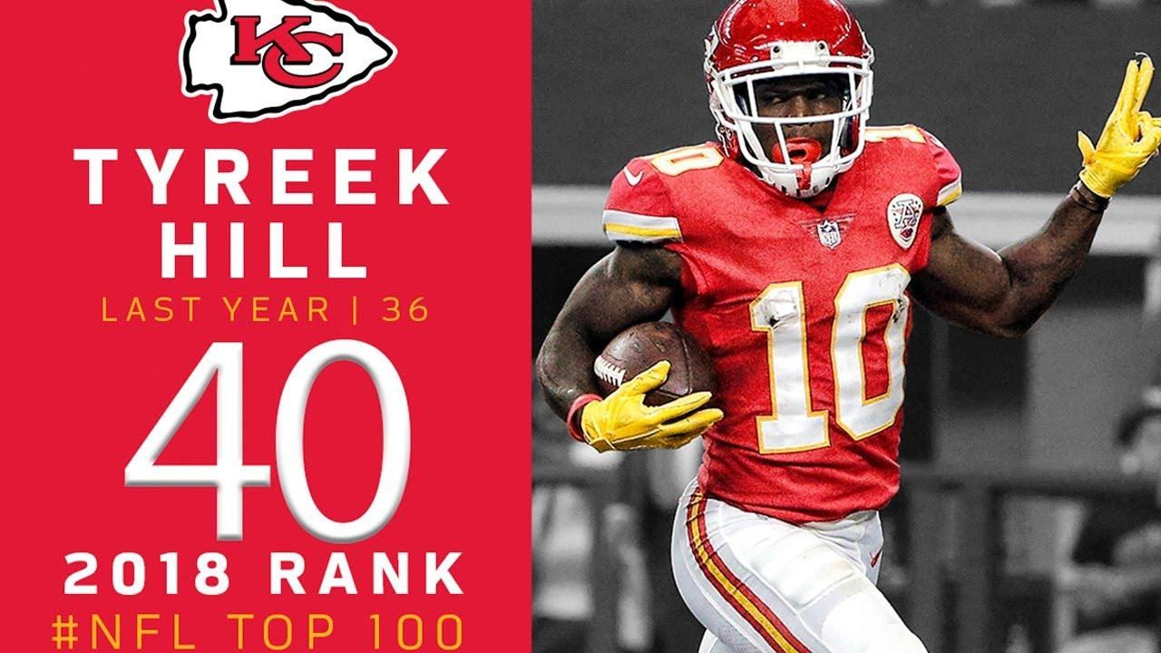 best loved b5daa e5f7a #40: Tyreek Hill (WR, Chiefs) | Top 100 Players of 2018 | NFL