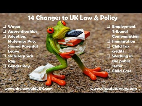 14 Changes to UK law and policy from April 2017!