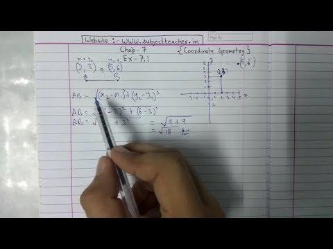 Chapter 7 Exercise 7.1 (Q1 Q2) Coordinate Geometry Class 10 Maths || NCERT CBSE