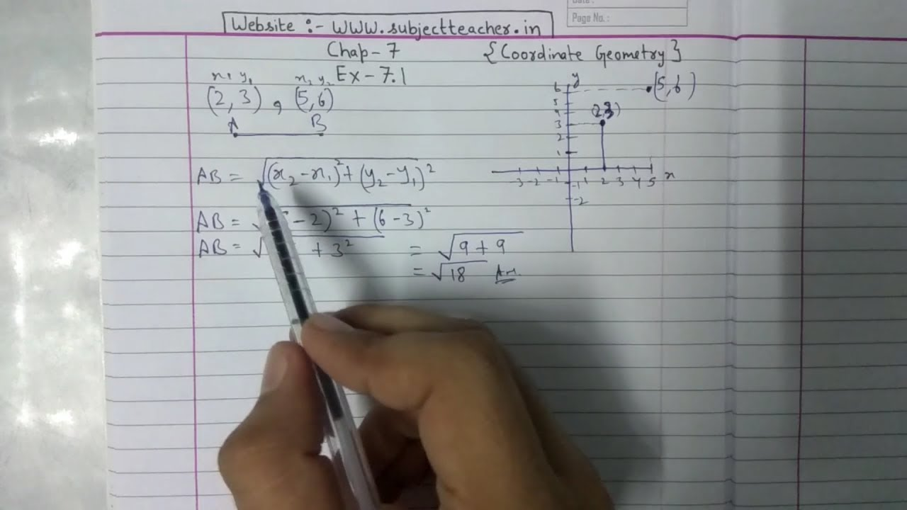 Chapter 7 Exercise 7 1 (Q1 Q2) Coordinate Geometry Class 10 Maths || NCERT  CBSE