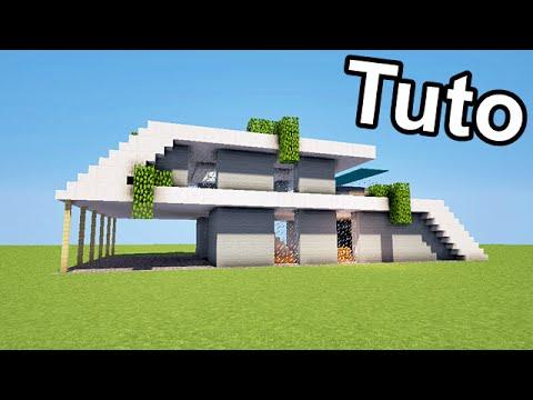 MINECRAFT TUTO - BELLE MAISON MODERNE ! + download