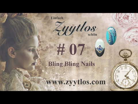Zyytlos Nail Art Tutorial # 7 - Bling Bling Nails thumbnail