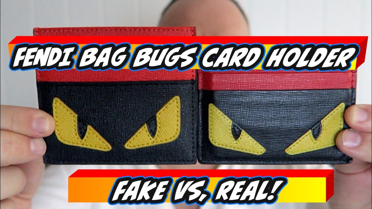 7570cdd40ff8 Non Genuine (Fake) Vs.Original - FENDI BAG BUGS 6 Card Holder - YouTube