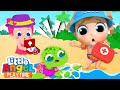 Baby John Rescues a Turtle | A Boo Boo Song & More Little Angel Songs