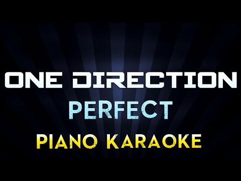 One Direction - Perfect | Lower Key Piano Karaoke Instrumental Lyrics Cover Sing Along