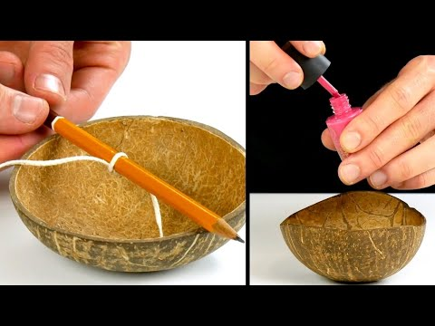 Вопрос: Как вычистить кокосовую скорлупу?