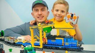 ЖЕЛЕЗНАЯ ДОРОГА Лего Сити 60052 Грузовой Поезд на радиоуправлении LEGO CITY CARGO TRAIN