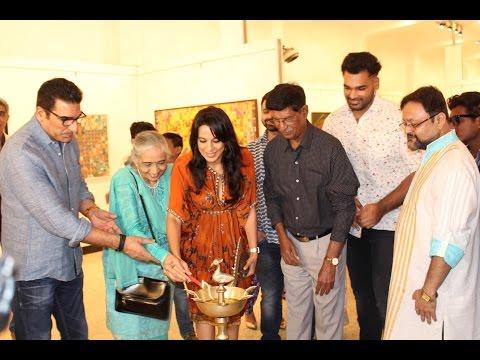 Pooja Bedi Inaugurate Veteran Artist Padmanabh Bendre Art Show Timeless Space
