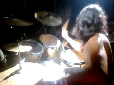 fossils band drummer. .  tanmoy drums solo...