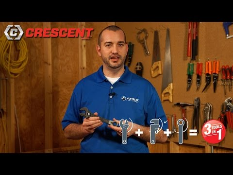 Crescent® Pass-Thru™ Adjustable Wrench Set - 3 Tools in 1