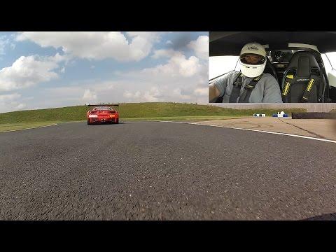 Lotus Exige Trackday (chasing Ferrari 458 Challenge at Bedford Autodrome SEN 19th July 2014)