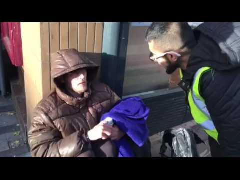 SHELTER THE HOMELESS IN ROCHDALE. I was in rochdale today. Giving out. Blankets sleeping bags and r
