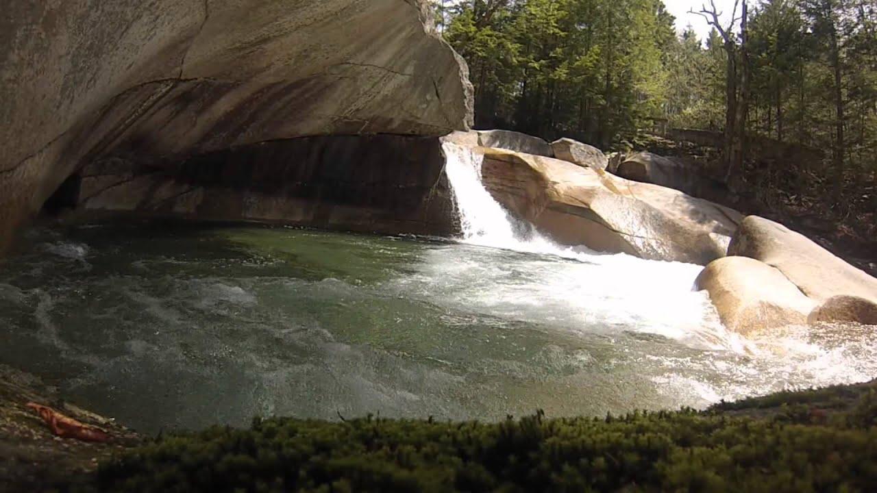 The Basin Franconia Notch State Park Nh Youtube